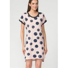Платье розовое Горох М-0056