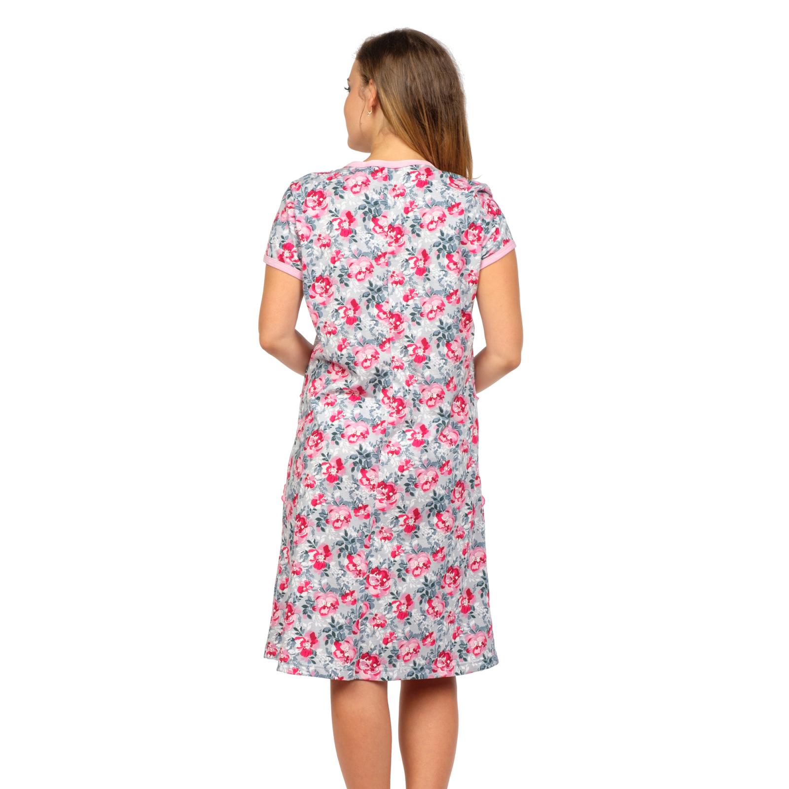 Халат Глория (розовые цветы) М-0123Р