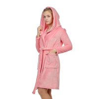 Халат (велсофт) розовый М-0155Р