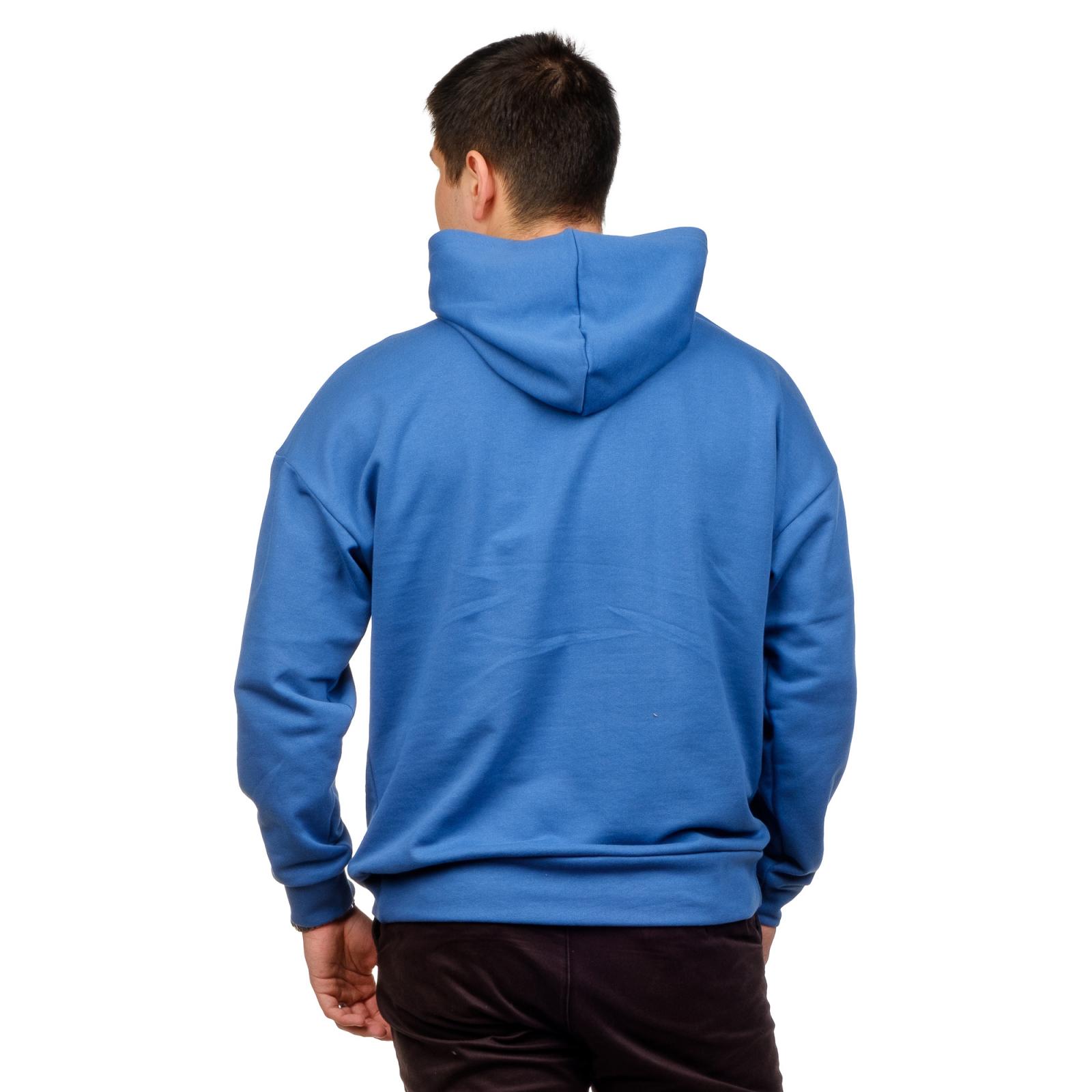 Худи оверсайз мужское Синее (футер 3-нитка) С-0006С