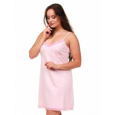 Сорочка на лямках розовая М-0005Р
