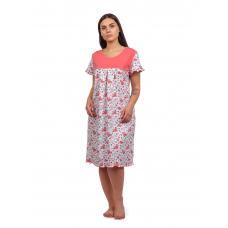 Сорочка (кокетка) Персиковые цветочки М-0068П