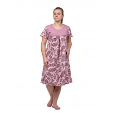 Сорочка (кокетка) бордовые Огурцы М-0068БОР
