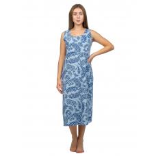 Ночная сорочка бабушкина Голубая, огурцы М-0042Г
