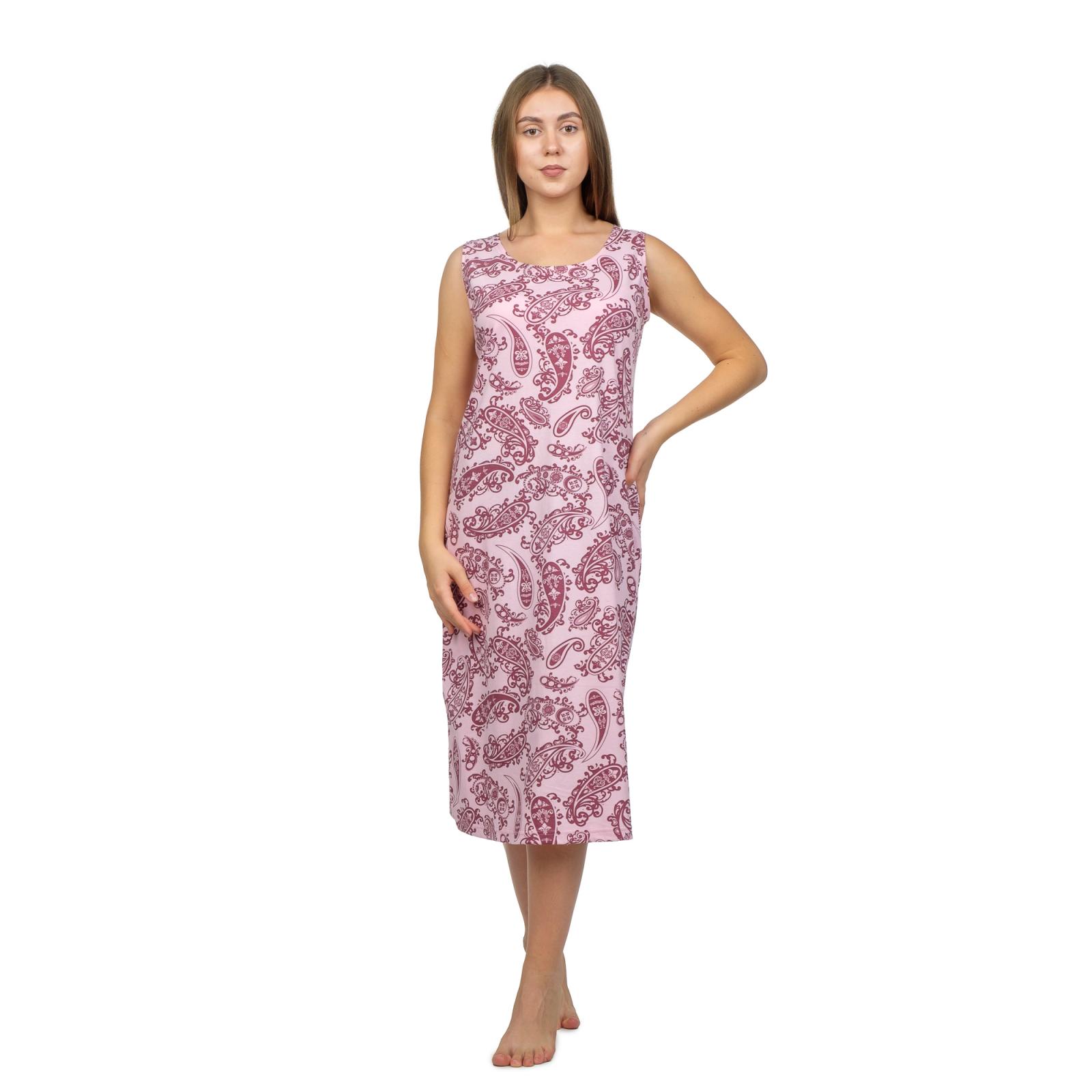 Ночная сорочка бабушкина  Бордо, огурцы М-0042БОР