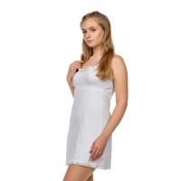 Сорочка на лямках белая (кружево) Кристина М-0005Б