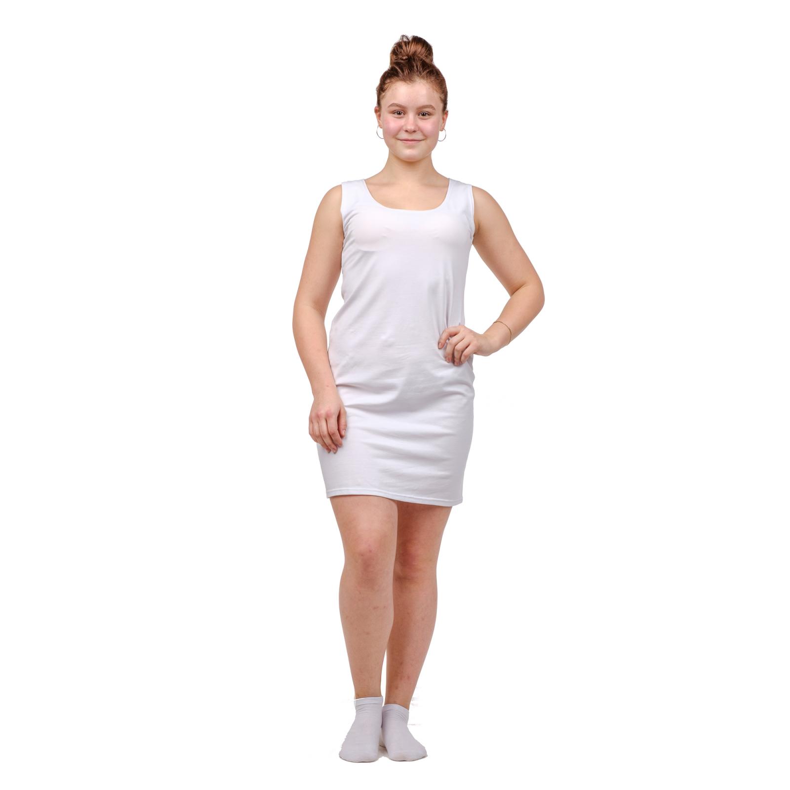 Платье белое медицинское М-0091