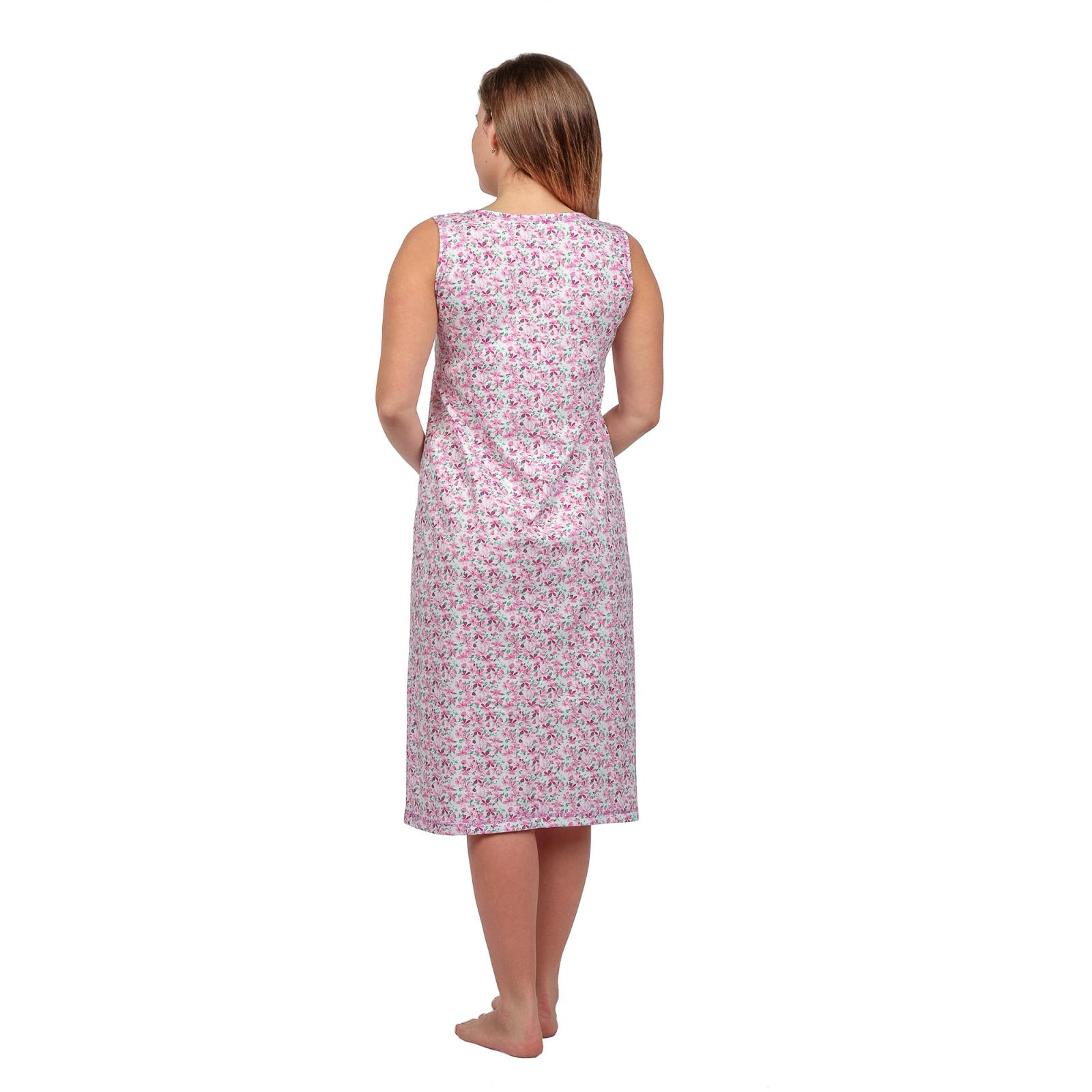 Ночная сорочка (бабушкина) Розовые цветы М-0042Р