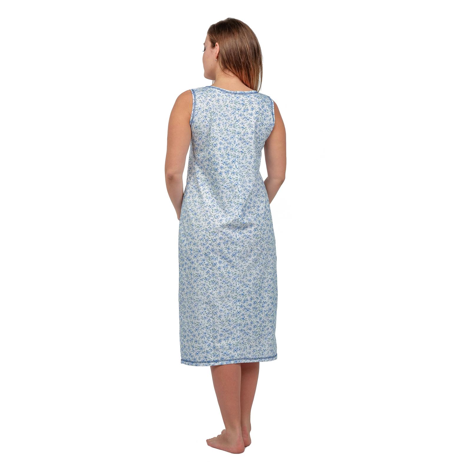 Ночная сорочка (бабушкина) Голубые цветы М-0042Г