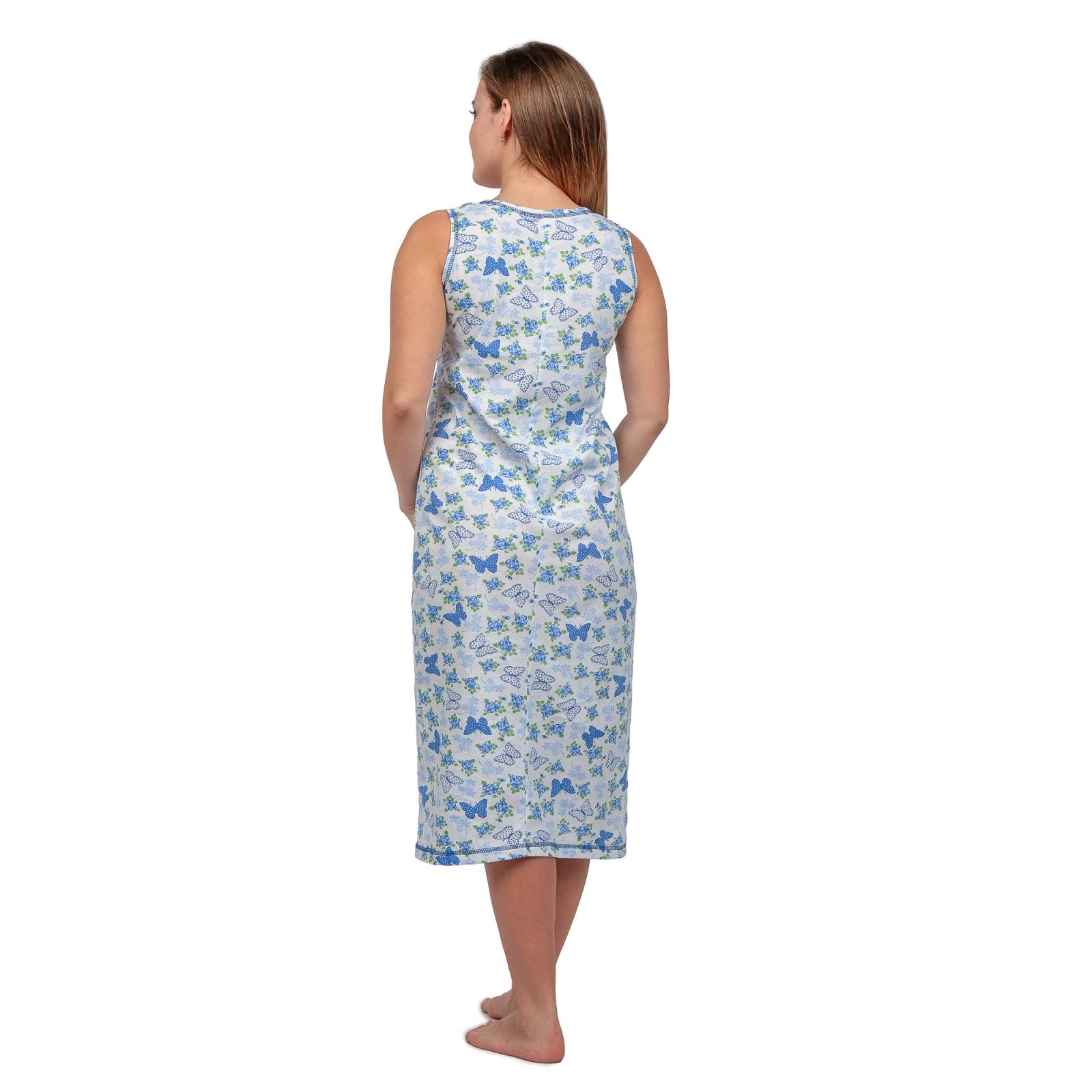 Ночная сорочка (бабушкина) Голубые бабочки М-0042Г