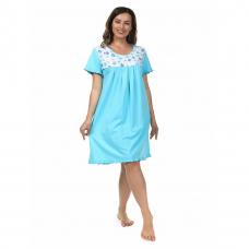 Сорочка (кокетка) Голубые цветочки М-0068Г