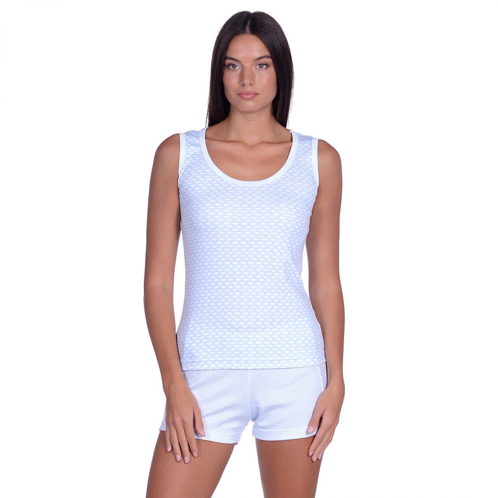 Пижама Голубая волна М-0127Г