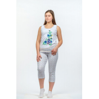 Пижама Незабудка (майка+бриджи) М-0099