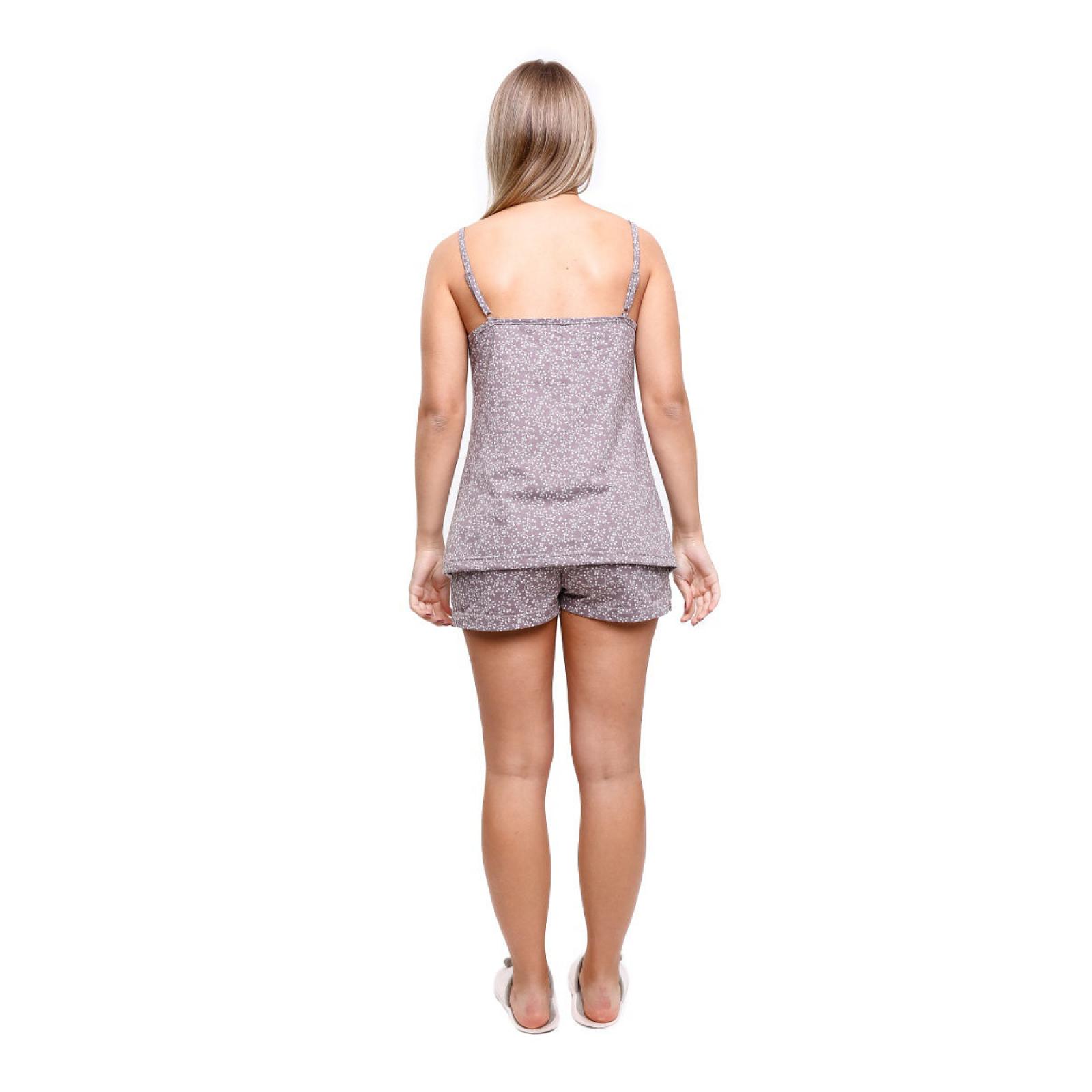 Пижама коричневая на бретельках М-0057