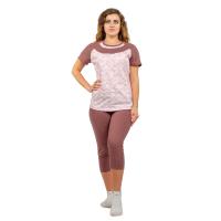 Пижама розовая Анна (футболка+бриджи) М-0124Р