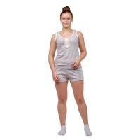 Пижама (серая с гипюром) Мария М-0127СС