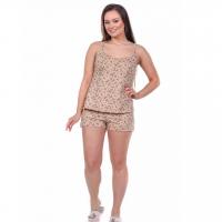 Пижама бежевая (огурец) М-0057