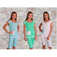 Пижама  с  сердечками (рибана) М-0015Р