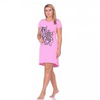 Платье розовое (принт) М-0072Р