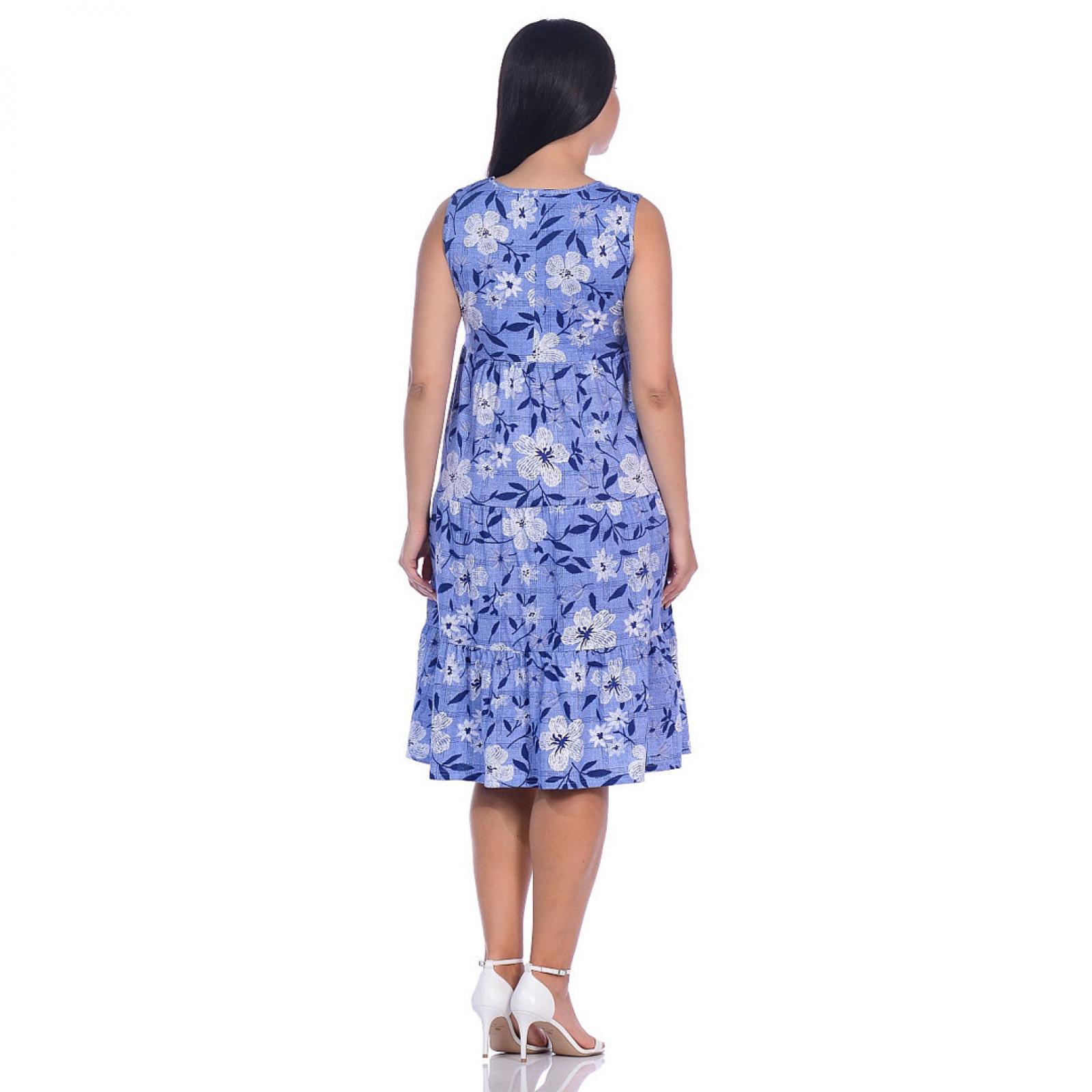 Сарафан (голубой) Цветы М-0182Г
