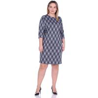Платье Классика (жаккард, голубая клетка) М-0146Г
