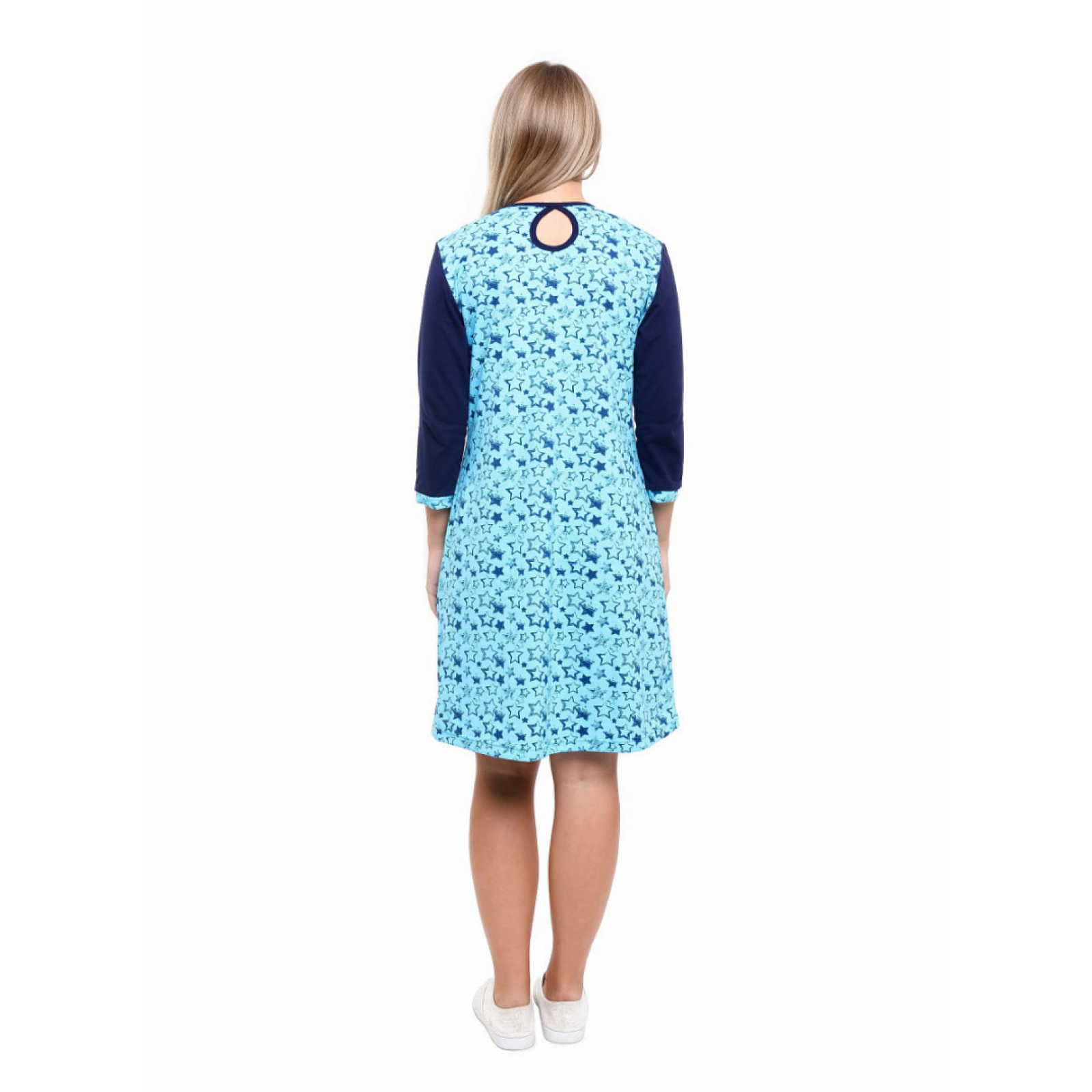 Платье голубое Звёзды М-0089Г