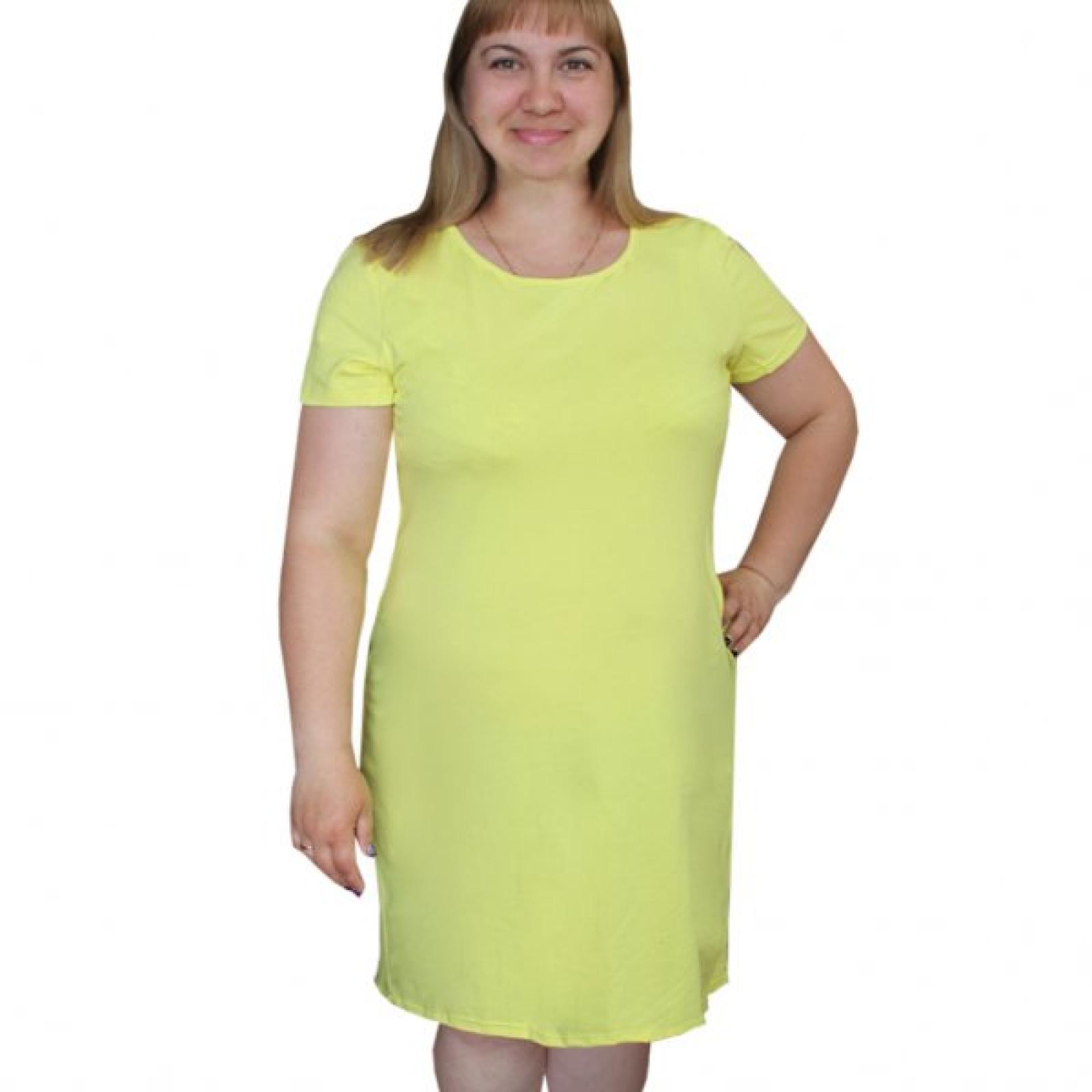 Платье желтое М-0072Ж