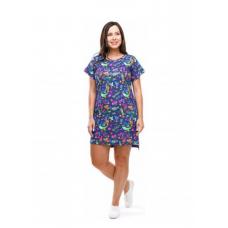 Платье синее Собачки M-0056С