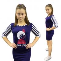 Платье домашнее (полоска) Бонжур М-0106ТС
