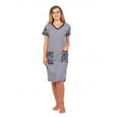 Платье Привет (полоса, принт) М-0129ПОЛ