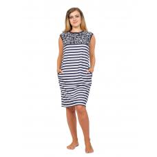 Платье Привет (широкая полоса, принт) М-0129ПОЛ