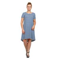Платье Сине-белая полоса (вискоза) М-0072ТС