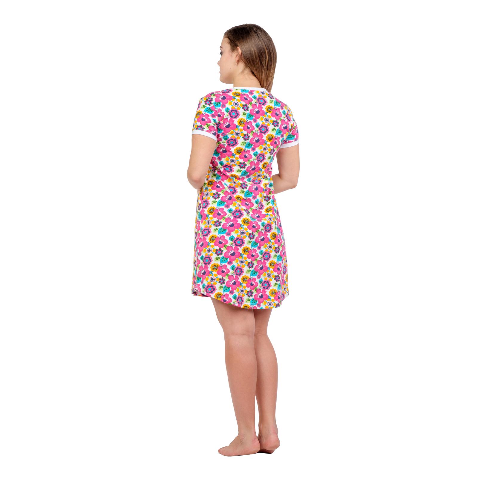 Платье домашнее Розовые цветочки М-0012Р