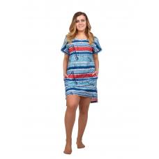 Платье голубое (газета) М-0056Г