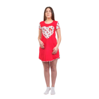 Домашнее платье Сердце М-0012С