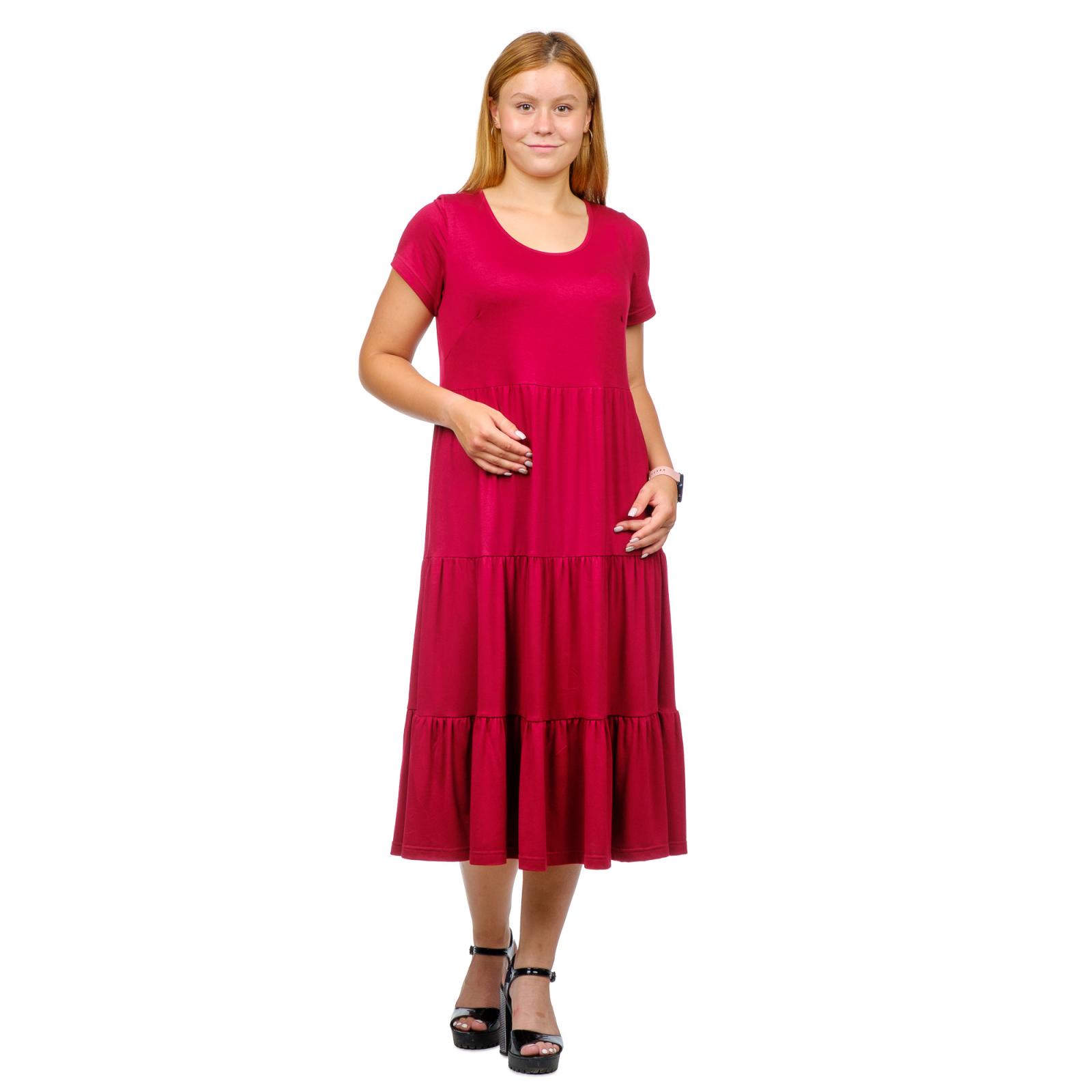 Платье Карина (вискоза)  Бордо М-0203БОР