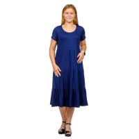 Платье Карина (вискоза)  Тёмно-синее М-0203ТС