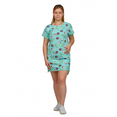 Платье (бирюза) Кокос М-0056БИР