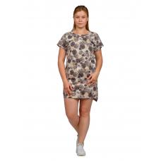 Платье коричневый Горох М-0056КОР