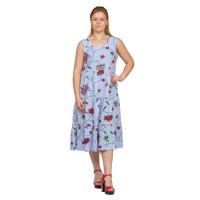 Сарафан (голубая полоса) Цветок М-0182Г