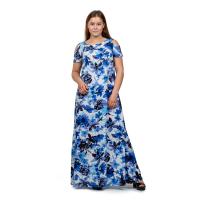 Платье длинное в ассортименте Голубые цветы
