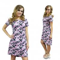 Платье Розовый камуфляж М-0072КФ